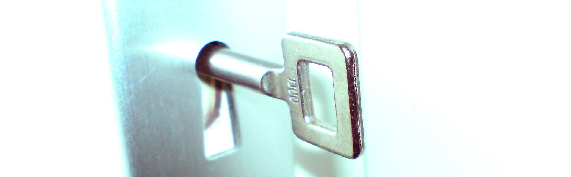 lock and key locksmith products on light background